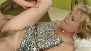 Granny Enjoys Hard Sex With Her Young Boyfriend