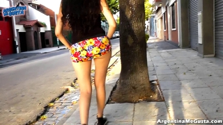 Big White Latino Ass Upskirt In Public! Big Ass And Cameltoe