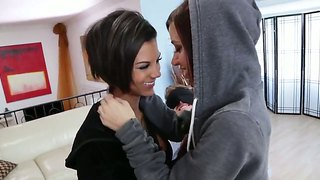 Sexy Lesbians Are Having A Threesome Feat. Danny Wylde