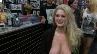 Blond Slut Used In Public 3