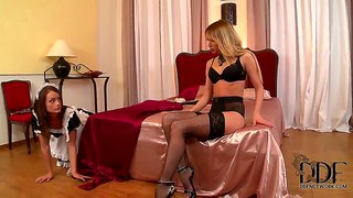 Aleska Diamond Punishes Her Maid Sophie Lynx