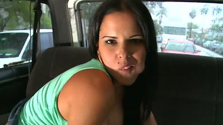 Diamond Kitty Works On Her Twat In Bang Bus