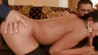 Latina Bitch Fucking With Two Boys