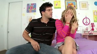 Beauty Blonde Kimberly Kiss And Her Friend Ramon Nomar Watched Some Porn Video And Got Excited!