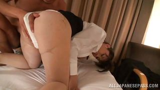 asian whore squirts at work