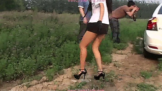 Sexy Outdoor Teen Girl