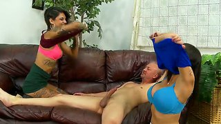 Two Tattooed Bad Girls Share A Turid Rod