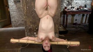 kristina hanging upside down