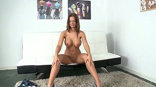 Sexy Ass Babe Black Angelika Plays With Her Slit