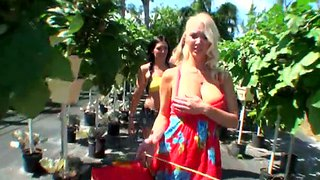 Two Adorable Porn Stars Sniff Flowers Hotly