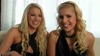 Two Hot Blonde Glamour Girls Brandy Smile And Danielle Maye Are Having Naughty Chat!