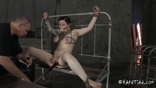 Bdsm Master Uses His Sexy Brunette