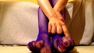 Purple Fishnets