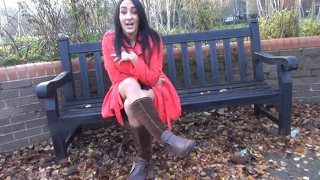 Couragious Chloe Lovettes Public Flashing And Upskirt Mastur