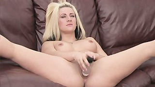 Blonde Beauty Fucks Her Puss