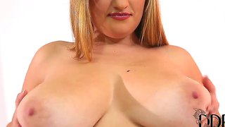 Hot Ginger Sara Willis Plays With Her Large Honkers