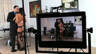 Backstage In The Office With Hot And Naughty Secretary Cipriana And Her Intelligent Boss