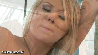 Fresh Blonde Lesbians Michelle Moist And Ary Go Wild In...