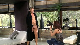 Abbie Cat & Lyen Parker Relax With Rocco Siffredi