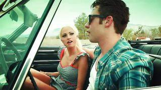 summer rose fucked outdoors on a car