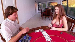 Busty Allison Moore Loves Losing At Poker All The Time