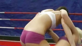 Wild Young Girls Wrestling