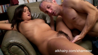 Hairy Girl Cece Stone Gets Cum On Her Face