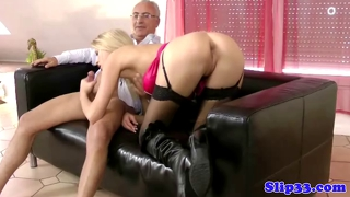 Classy Blonde Assfucked By Old Man