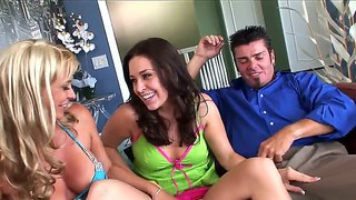 Two Pretty Teeny Girls Gracie Glam And Phylisha Anne Fuck A Guy.