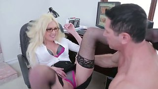 John Strong Gets Seduced By Mature Victoria White Into Hard Fucking Her Shaved Cunt