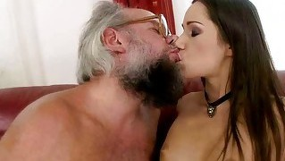 Lucky Granpda Fucking With Pretty Teen Girl