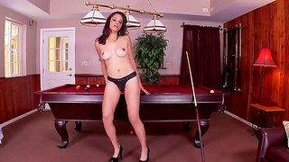 Girl In Panties Aria Salazar Goes Solo In The Pool Room