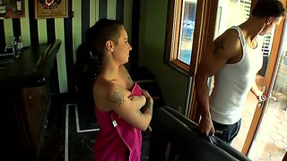 Tattooed Chick Christy Mack Gets Massage