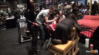 Pornhubtv Intern Madeline Gets Flogged At Exxxotica 2013
