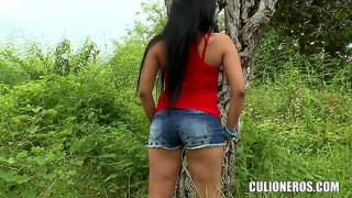 Cute Latina College Girl Camilla's Ass Was A Huge Virgin, Until Today