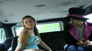The Young But Horny Claire James Gets On The Bus.