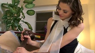 Young College Babe Sucks Her Stepfather's Big Black Dick.