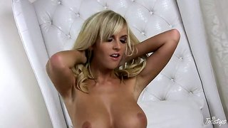Classy Blonde Chikita Has Long Legs For Spreading