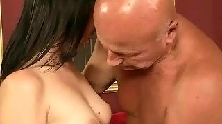 Teen Enjoying Hot Sex With Grandpa