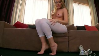 Sophie Moone Has Fire In Her Eyes As She Plays With Herself