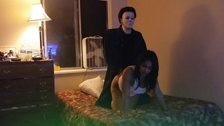 Miss Northwest Fucks Intruder Michael Myers!