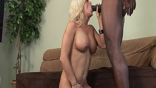 Sexy Blonde Mature Babe With Big Tits Fucked By A Big Black Cock