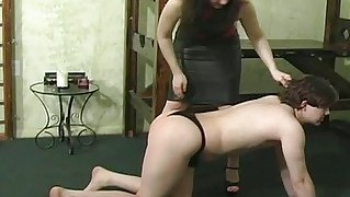 He Lightly Spanks Her Ass