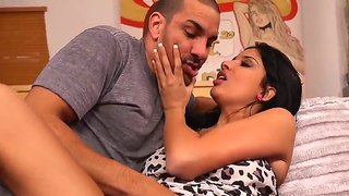 Marco Rivera Meets His Mother's Super Sexy Friend Anissa Kate In The Livingroom