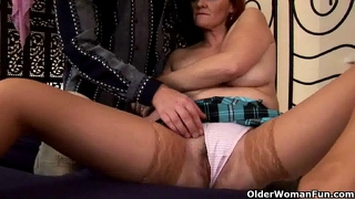 Slutty Granny Gets Fisted And Tit Fucked