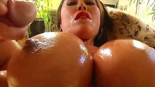 Kianna Dior Spreads Cum All Over Her Big Boobs