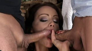 Hardcore Threesome Fuck With An Amazing Brunette Named Sophie Lynx