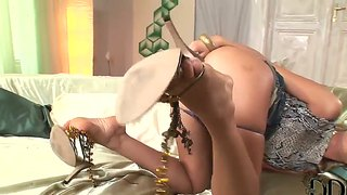 Cherry Jul Pulls Down The Sexy G-Strings And Pets The Cake