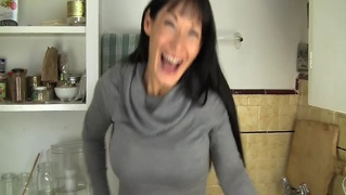 fucking mom in kitchen
