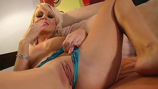 Hot Jana Cova Spanking Her Precious Pussy And Masturbating Using A Very Big Dildo